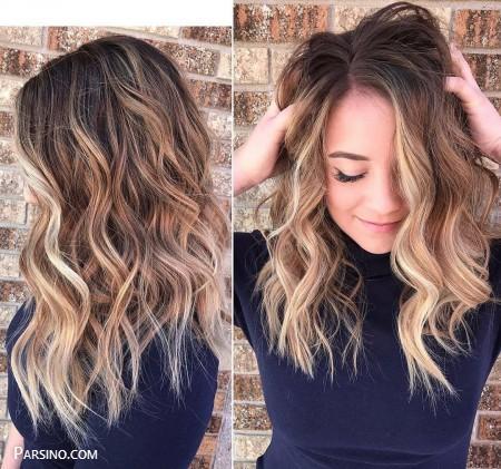 رنگ مو , رنگ موی زنانه , رنگ مو 2018 , رنگ مو کاراملی اصل