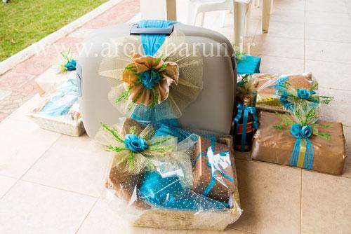 تزئین چمدان عروس و داماد