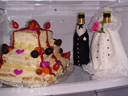 تزیینات یخچال عروس,چیدمان یخچال عروس